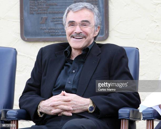 Burt Reynolds attends dedication of Burt Reynolds Road on April 28 2010 in West Palm Beach Florida