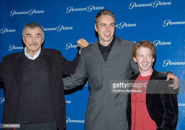 Burt Reynolds Dax Shepard and Seth Green during 2004 ShoWest Paramount Pictures Hosts Star Studded Dinner at Paris Hotel in Las Vegas Nevada United...