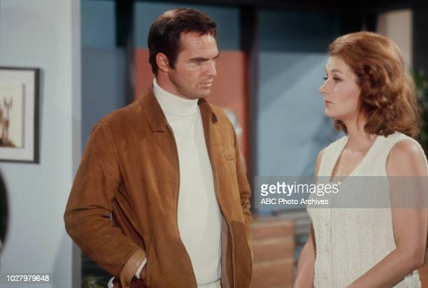 Burt Reynolds Diana Muldaur appearing in 'Dan August' 'Murder By Proxy' Airdate September 23 1970