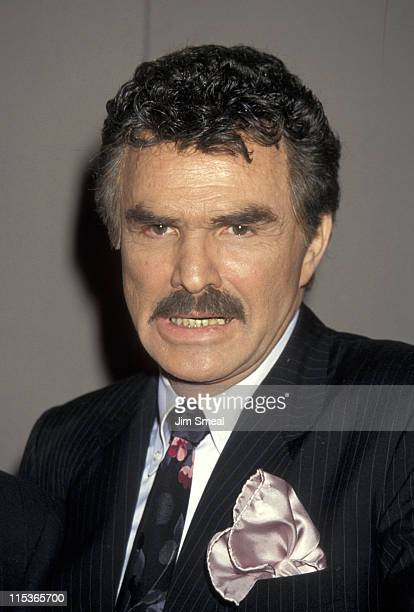 Burt Reynolds during Milton Berle Receives The Iris Lifetime Acheivement Award From NAPTE January 28 1993 at Moscone Convention Center in San...
