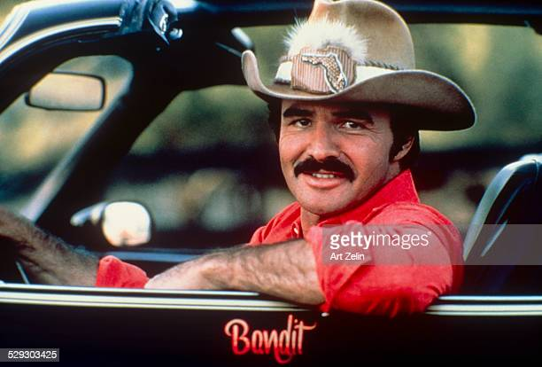 Burt Reynolds in the car from Smoky and the Bandit circa 1970 New York