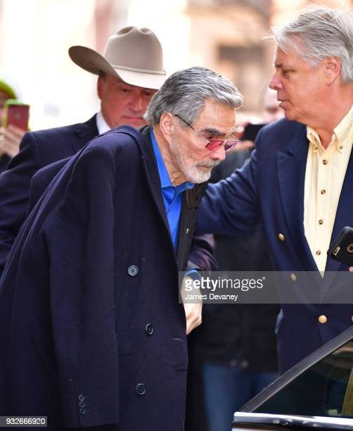 Burt Reynolds leaves Build at Build Studio on March 15 2018 in New York City