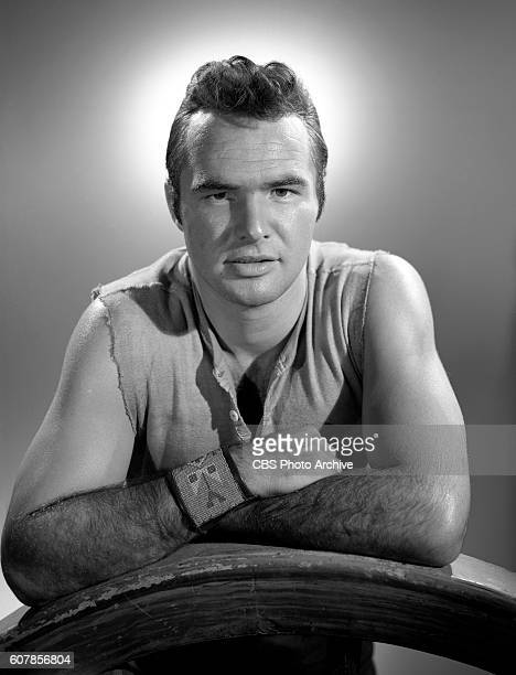 Burt Reynolds poses in character for the CBS Television western Gunsmoke Hollywood CA Image dated October 22 1962