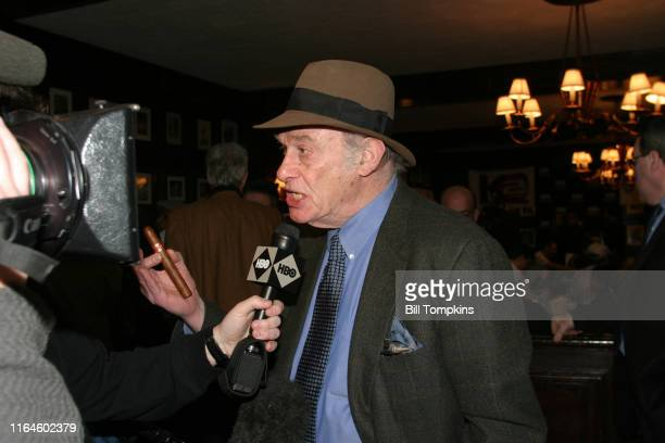 """Burt Sugar at the press conference for the IBF heavyweight Championship fight between champ Chris Byrd and number 1 contender Wladimir Klitschko""""non..."""