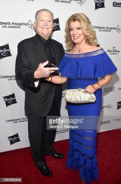 Burt Sugarman and Mary Hart attend the 2018 Children's Hospital Los Angeles 'From Paris With Love' Gala at LA Live on October 20 2018 in Los Angeles...