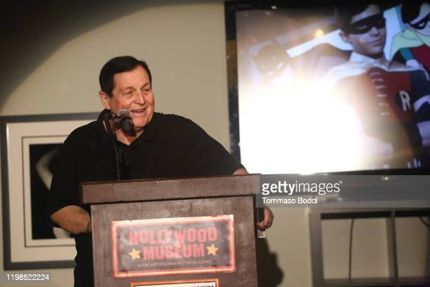 Burt Ward announces the Global Batusi Dance For World Peace at The Hollywood Museum on January 09 2020 in Hollywood California