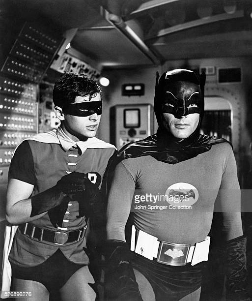 Burt Ward as Robin and Adam West as Batman in the original 1966 television series Batman