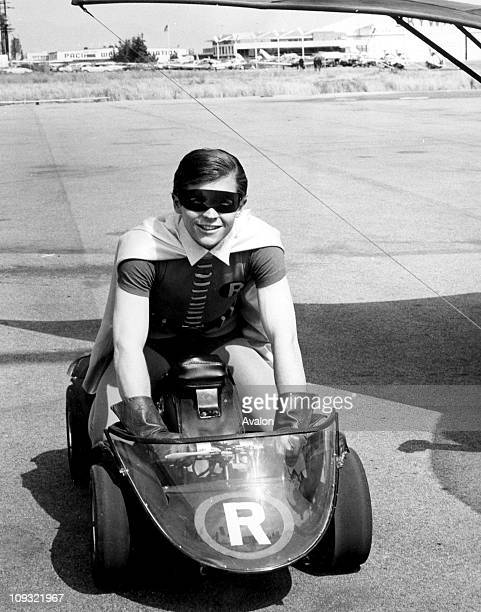 Burt Ward as Robin costarring in Batman popular American TV series