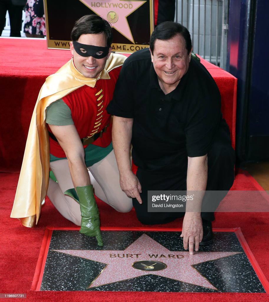 Burt Ward Is Honored With A Star On The Hollywood Walk Of Fame : News Photo