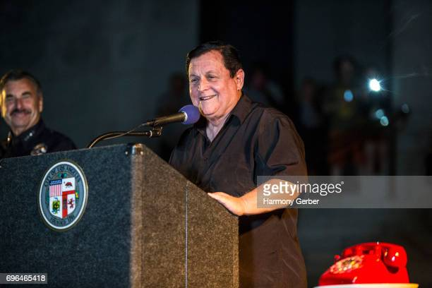 Burt Ward attends Tribute to Adam West at Los Angeles City Hall on June 15 2017 in Los Angeles California