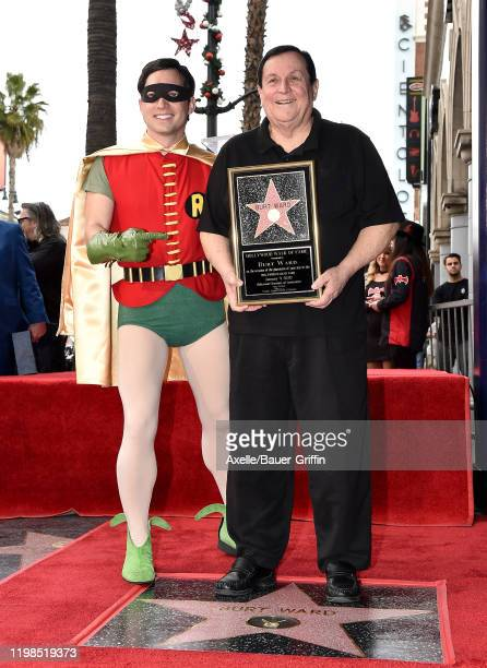 Burt Ward Is honored with a Star on the Hollywood Walk of Fame on January 09 2020 in Hollywood California
