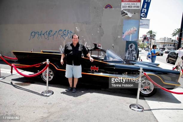 Burt Ward Robin from the orignal 'Batman' TV series makes an appearance with the Batmobile at In Person Inc on June 29 2013 in Hollywood California