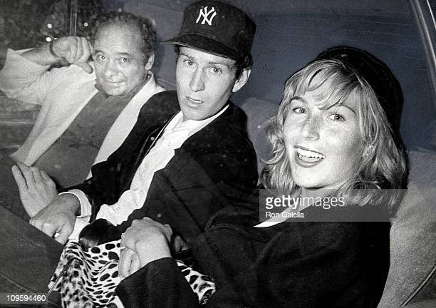 Burt Young John McEnroe and Tatum O'Neal during Cuba His Teddy Bear Performance August 30 1986 at Longacre Theater in New York City New York United...