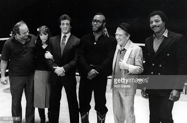 Burt Young Talia Shire Sylvester Stallone Mr T Burgess Meredith and Carl Weathers