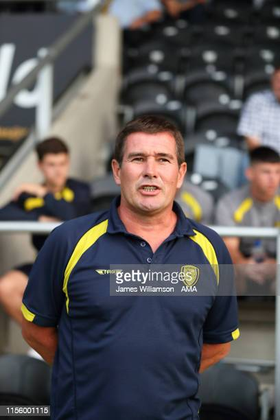 Burton Albion manager head coach Nigel Clough during the PreSeason Friendly match between Burton Albion and Sheffield United at Pirelli Stadium on...