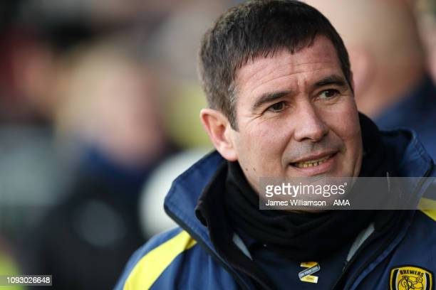 Burton Albion manager head coach Nigel Clough during the Sky Bet League One match between Burton Albion and Oxford United at Pirelli Stadium on...