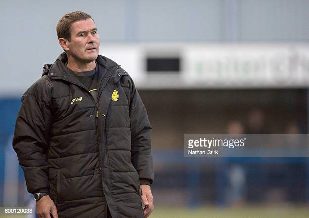 Burton Albion manager Nigel Clough looks on during the PreSeason Friendly match between Leek Town and Burton Albion on July 13 2016 in Leek England