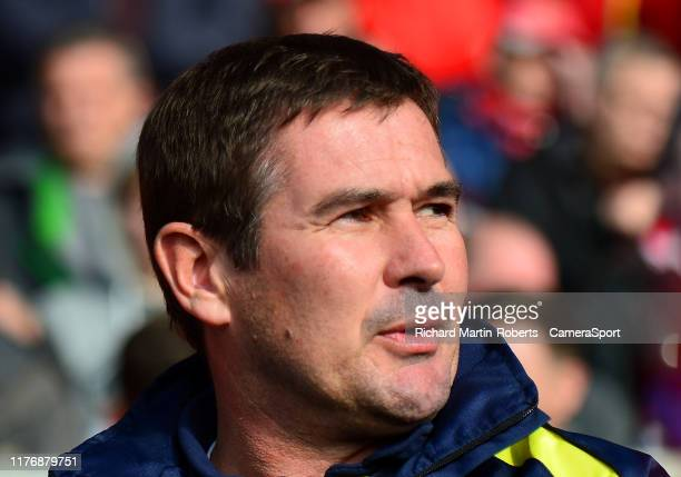 Burton Albion manager Nigel Clough looks on during the Sky Bet League One match between Fleetwood Town and Burton Albion at Highbury Stadium on...
