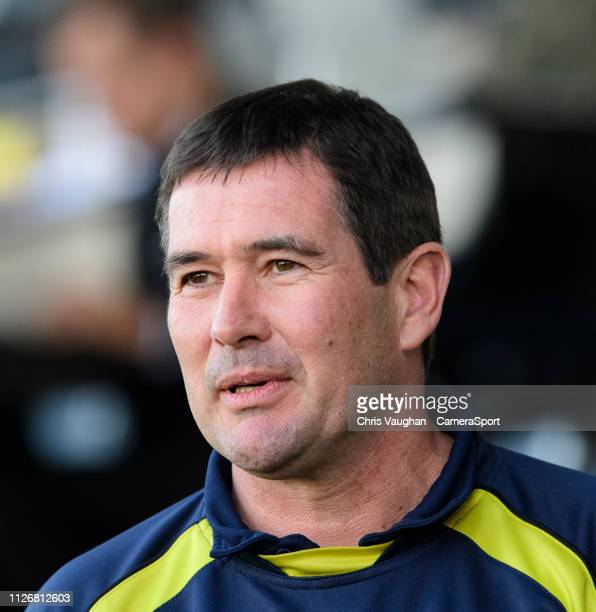 Burton Albion manager Nigel Clough prior to the Sky Bet League One match between Burton Albion and Fleetwood Town at Pirelli Stadium on February 23...