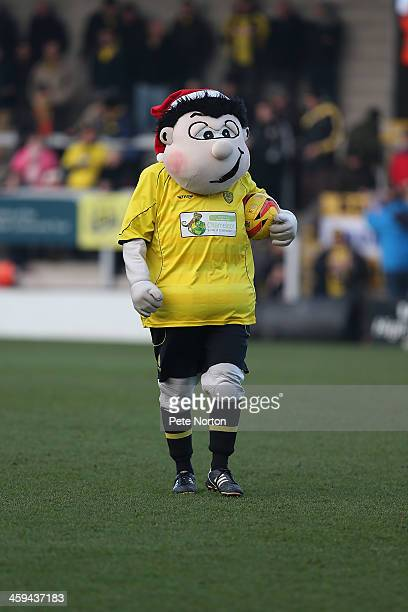 Burton Albion mascot Billy Brewer looks on prior to the Sky Bet League Two match between Burton Albion and Northampton Town at Pirelli Stadium on...