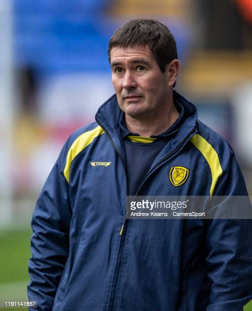 BOLTON ENGLAND JANUARY Burton Albion's manager Nigel Clough during the Sky Bet League One match between Bolton Wanderers and Burton Albion at...