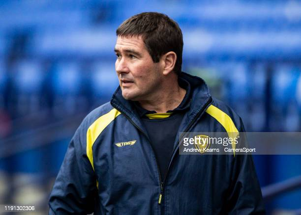 Burton Albion's manager Nigel Clough during the Sky Bet League One match between Bolton Wanderers and Burton Albion at University of Bolton Stadium...