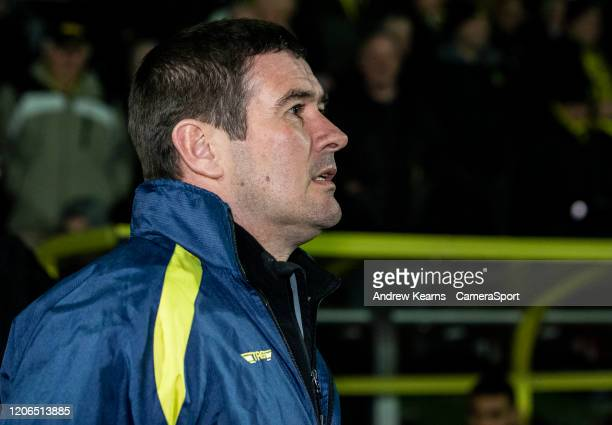Burton Albion's manager Nigel Clough during the Sky Bet Leauge One match between Burton Albion and Bolton Wanderers at Pirelli Stadium on March 10...