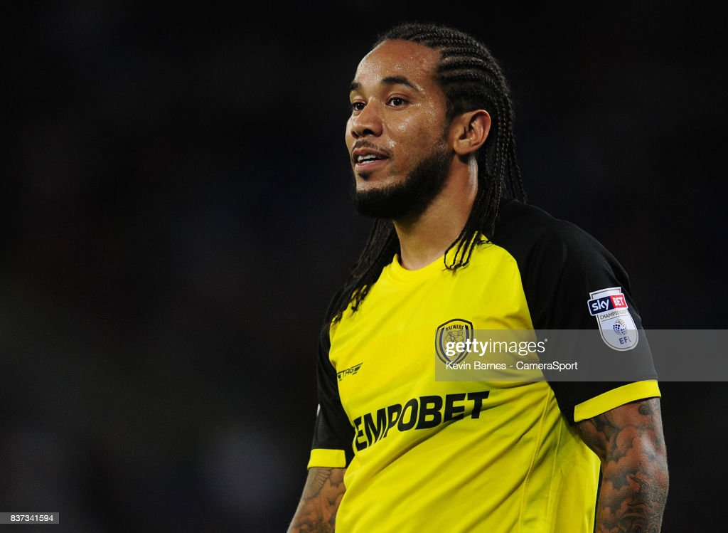Burton Albion's Sean Scannell during the Carabao Cup Second Round match between Cardiff City and Burton Albion at Cardiff City Stadium on August 22, 2017 in Cardiff, Wales.