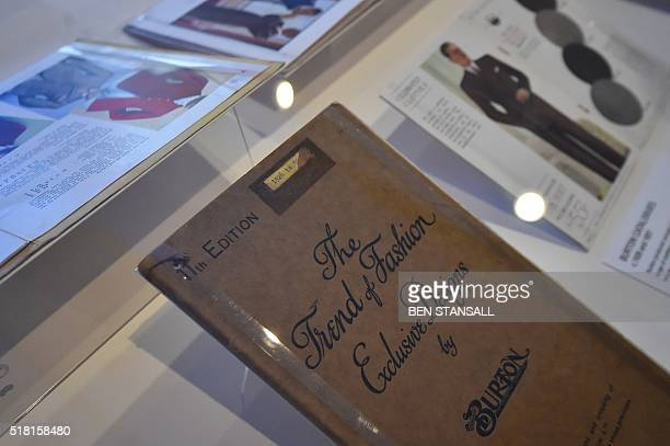 Burton clothing catalogue from 1926 is seen as part of the Moses Mods and Mr Fish: The Menswear Revolution at the Jewish Museum in London, on March...