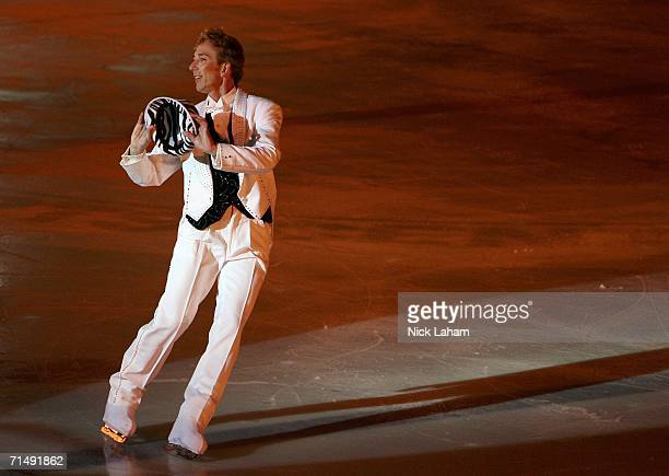 Burton Fowley skates in the ice gala during the Gay Games VII at the McFetridge Sports Center on July 20 2006 in Chicago Illinois