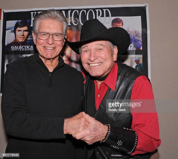 Burton Gilliam and Kent McCord attend Chiller Theatre Expo Spring 2018 at Hilton Parsippany on April 27 2018 in Parsippany New Jersey