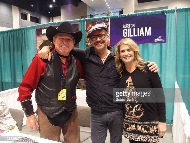 Burton Gilliam, Billy Zane and Kristy Swanson attend the GalaxyCon Raleigh 2019 at Raleigh Convention Center on July 25, 2019 in Raleigh, North...