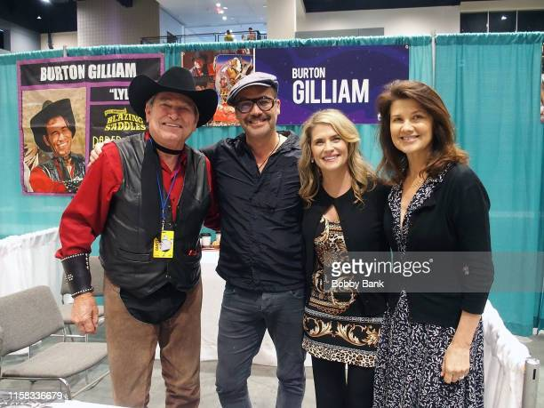 Burton Gilliam, Billy Zane, Kristy Swanson and Daphne Zuniga attend the GalaxyCon Raleigh 2019 at Raleigh Convention Center on July 25, 2019 in...