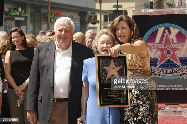 Burton Grant and Gloria Grant attend the unveiling ceremony for their daughter Amy Grant's star on The Hollywood Walk of Fame September 19 2006 in...