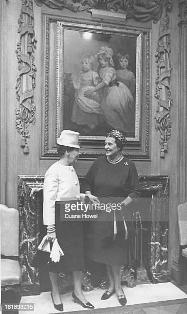 APR 24 1967 551967 Burton Hamer Miss Caroline Bancroft meeting for University Theatre Summer Festival