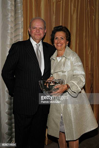 Burton M Tansky and Rose Marie Bravo attend PHOENIX HOUSE Fashion Awards at Pierre Hotel on May 1 2007 in New York City