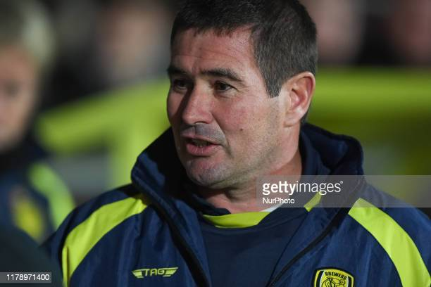 Burton Manager Nigel Clough during the Carabao Cup Fourth Round match between Burton Albion and Leicester City at the Pirelli Stadium Burton upon...
