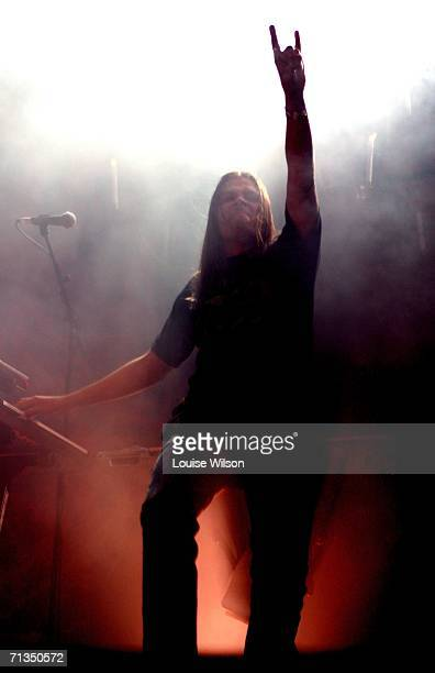 Burton of Finnish rock band HIM performs onstage on the third day of the Roskilde Festival on Saturday 1st July in Roskilde Denmark