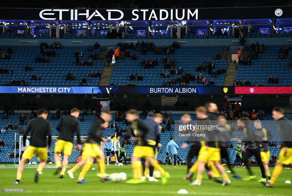 Manchester City v Burton Albion - Carabao Cup Semi Final: First Leg : News Photo