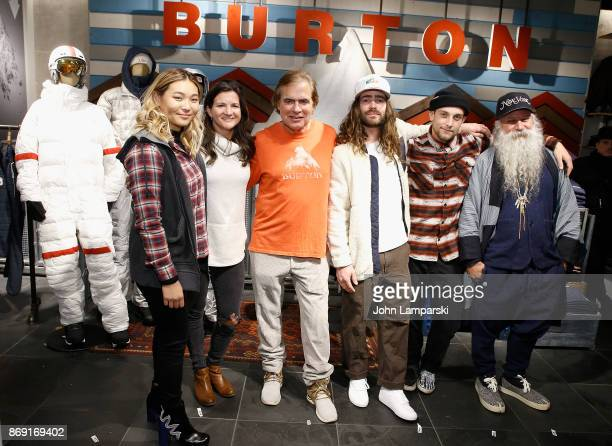 Burton pro snowboard riders Chloe Kim Kelly Clark Danny Davis and Ben Ferguson are joined by Chairman Jake Carpenter and head designer Greg Dacyshyn...
