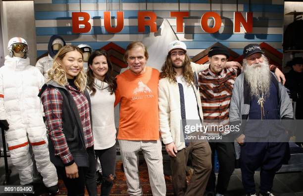 Burton pro snowboard riders Chloe Kim Kelly Clark Danny Davis and Ben Ferguson are joined by Chairman Jake Carpenter and head designer Greg Dacyshyn...