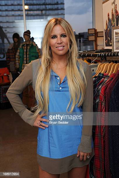 Burton Snowboards global PR director AnneMarie Dacyshyn attends the Burton Snowboards Apres in May Showroom Event at Milk studios on May 16 2013 in...