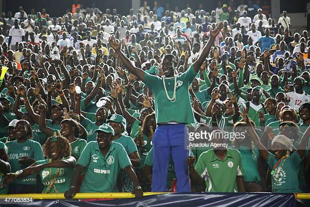 Burundi national football team fans watch the 2017 Africa Cup of Nations qualification Group K game between Senegal and Burundi at Leopold Sedar...