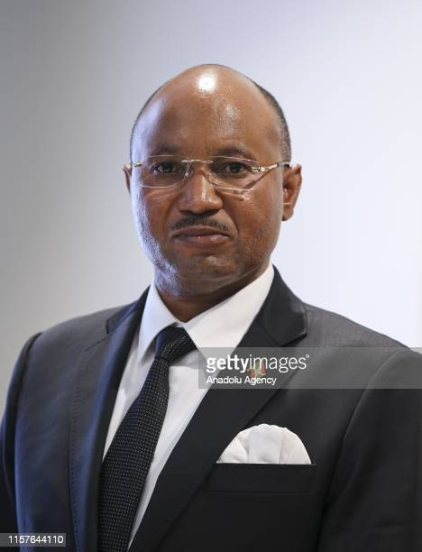 Burundian Minister of Public Security and Disaster Management Alain Guillaume Bunyoni poses for a photo during his meeting with Minister of Interior...
