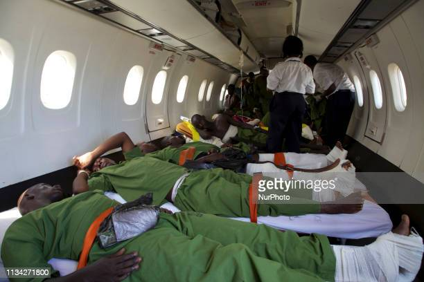 Burundian soldiers are medevaced to Kenya for treatment after a battle with Al Shabaab on the northern outskirts of Mogadishu. Mogadishu, Somalia, 21...