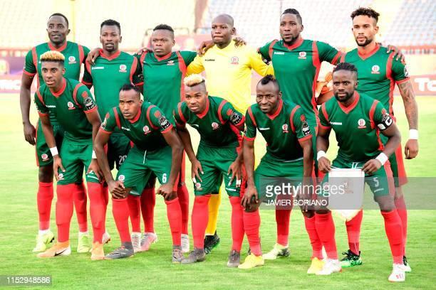 Burundi's defender Christophe Nduwarugira Burundi's midfielder Francis Mustafa Burundi's midfielder Pierre Kwizera Burundi's goalkeeper Jonathan...