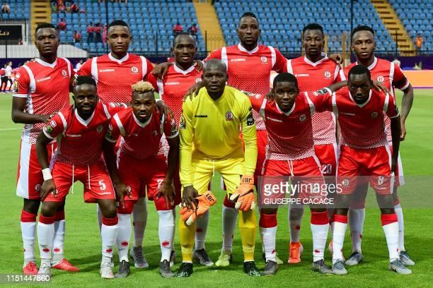 Burundi's defender Omar Ngando Burundi's defender Omar Moussa Burundi's forward Cedric Amissi Burundi's defender Frederic Nsabiyumva Burundi's...