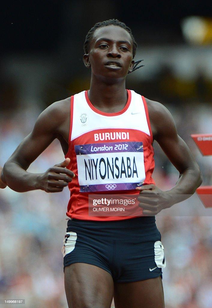 Burundi's Francine Niyonsaba competes in : News Photo
