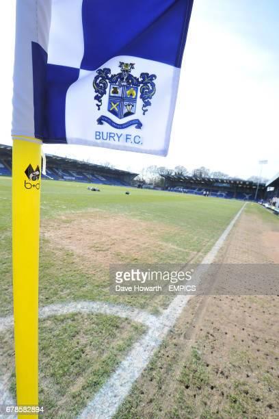 A Bury FC corner flag