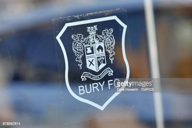 A Bury FC window sticker